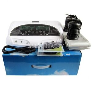Home Double Ionic Detox Foot Basin Bath Spa Cleanse Machine Relax Refresh Body