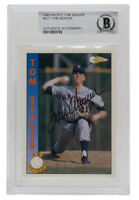 Tom Seaver Signed 1992 Pacific #AU1 New York Mets Baseball Card BGS