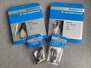 PAIR Shimano SM-RT86 XT Disc's 180 & 203 Plus Mounts - 6-bolt - RRP£130!