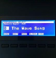 Korg Wavestation - Wavestation EX - Wavestation A/D Custom LED Display !