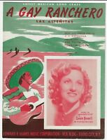 A GAY RANCHERO 1936 Connie Boswell Vintage Sheet Music