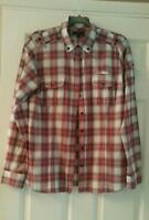 Ladies pink and black checked shirt size 14/L Gap