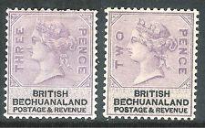 Bechuanaland 1888 lilac/black 2d & 3d mint  SG11/12