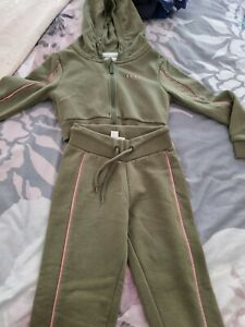 Sonneti girls joggers and crop hoodie used Age 8-10 years