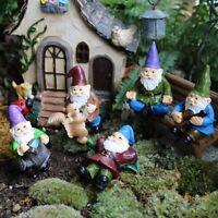 5pcs Fairy Garden Miniatures Gnome Dwarf Micro Figurines Gnomes for Terrarium US