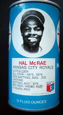 1977 Hal Mcrae Kansas City Royals Royal Crown Rc Cola Baseball Can Series 1