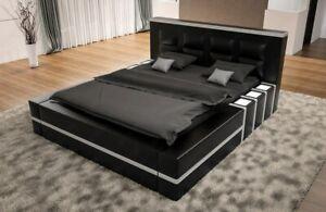 Design Wasserbett ASTI Komplett Set schwarz + Beleuchtung Komplettbett LAGERWARE