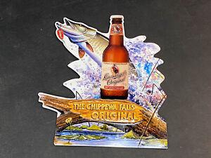 Leinenkugel's Original Beer Fish lure Metal sign Wisconsin Chippewa Falls Chief