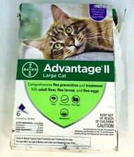 Advantage Ii 6-Dose Large Cat Flea Prevention, Flea Prevention for Cats, Over 9