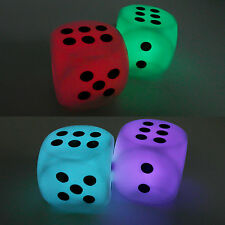 7 Colors Changing Dice Mini Shaped LED Light Lamp For House Party Decor Game Toy