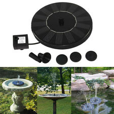 Solar Fountain Water Pump Panel Garden Pond Pool Submersible Watering Tools