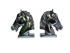Aluminium Horse Head Bookend Figurine Sculpture Statue au