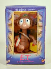 "Vtg 1988 E.T. School Books Backpack Lunch 2.75"" Movie Applause PVC Action Figure"