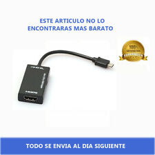 Micro USB MHL a HDMI HD TV Cable para Smartphones Android Negro 5Pin 5 Pin Pines