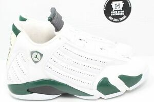 Nike Air Jordan 14 White Forest Green Size 11
