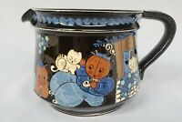 CATS and Children Theme RARE Vintage Aebi Hasle Pottery Pitcher Switzerland