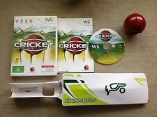 Wii  CRICKET BUNDLE ~ CRICKET GAME + KOOKABURRA BAT + BALL *COMPLETE* ~ AUS PAL