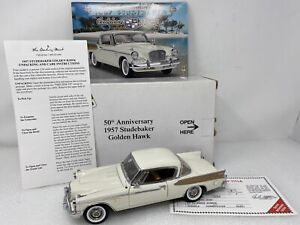 1/24 Danbury Mint 1957 Studebaker Golden Hawk 50th Anniversary White Gold