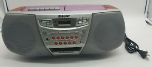 Pink & Red Sony CFD-922 CD Radio Cassette  Boombox - Tested Works Well