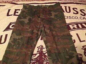 CAMO ARMY COMBAT JUNGLE HUNT GREEN BROWN BLACK PANTS SIZE 36X 28