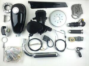 Black 80cc Bike Bicycle Motorized 2-Stroke Gas Motor Engine Kit