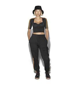 Adidas Ivy Park Beyonce Black Circular Knit Crop Top Drip 2.2 Size Medium GT9008