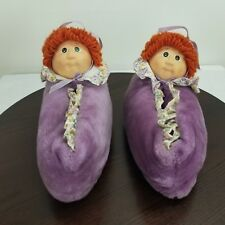 1984 Cabbage Patch Kids House Shoes Size 7-8 Adult Plush Slippers Rubber Face