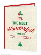 Brainbox Candy carte de Noël humour drôle coquin blague merveilleux temps bière