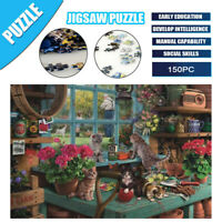 150 Pieces Jigsaw Puzzles Educational Toys Windowsill Cat Kids Puzzle Game Gift