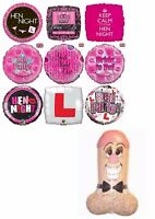 Hen & Stag Night Balloons Party Ware Decoration Novelty Gift Bride To Be Helium