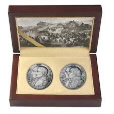 Niue 2012 2x5$ War of 1812 Kutusow - Napoleon High Relief 2x 2Oz Silver Coin Set