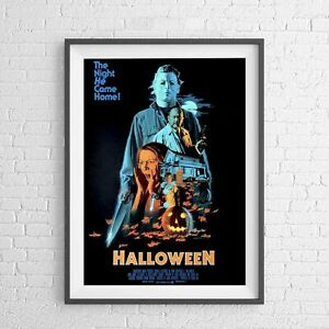 HALLOWEEN (1978) CLASSIC HORROR MOVIE POSTER PICTURE PRINT Sizes A5 to A0 *NEW**