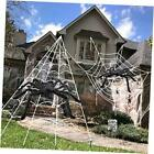 Halloween Decorations, 2Pcs 50'' Giant Spider + 200'' Triangular and Spider Web