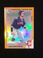 2021 Bowman Chrome Gabriel Arias ORANGE REFRACTOR BCP- 89 SSP #/25 1st Bowman
