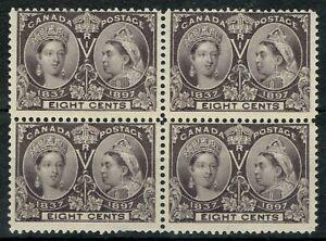 Canada 1897 Jubilee 8c Slate Violet SG130 Block of 4 Fine L/M/M Cat. £220.00++