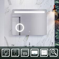 Illuminated Bathroom LED Mirror 3 times magnifying Demister P44 800x600mm