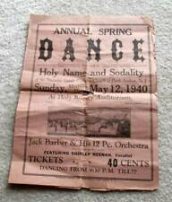 1940 Vintage Spring Dance Flyer ~ Perth Amboy, NJ