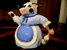 Vintage Milk Cow with Apron Tea Pot