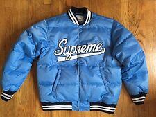 Supreme Script Varsity Puffy Jacket L