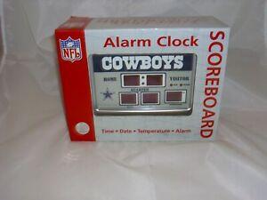"Dallas Cowboys Scoreboard Alarm Clock NFL Football DIGITAL 6.5""X9""- NIB"