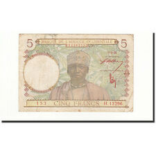 [#164809] French West Africa, 5 Francs, 1943-03-02, KM:26, TB
