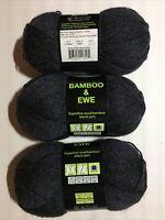 Yarn Bamboo-Ewe Superfine Wool/Bamboo Blend Three Skein Wool /Nylon /Rayon
