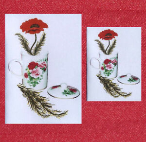 SALE!!! 12 POPPY GIFT NOTELETS & NOTELETS by SELF-REP' ARTIST [FREE P&P]