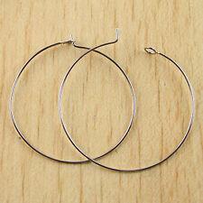 20pcs Platina tone  Ring Hooks Earring H0277