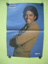 vintage 1983 Belgium  magazine poster Michael Jackson  10.3/8 x 15.3/8 inch