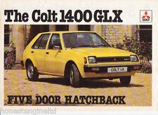 COLT CAR COMPANY MITSUBISHI 1400 GLX BROCHURE A4 1979?