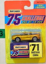MATCHBOX CHALLENGE 75 1997 EDITION #71 MUSTANG COBRA