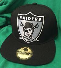 Oakland Raiders ONE NATION Silver And  Black Flat Bill SnapBack Hat NEW Raiders