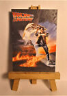 Back to the Future Movie Poster 1985 ACEO Original PAINTING by Ray Dicken