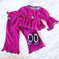 American Girl Doll Printed Paisley Pjs Retired Purple Pajama Set